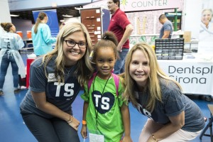 ST. PETERSBURG, FL - JULY 12: About 300 kids from the Boys and Girls Club of the Suncoast attend Team Smile Dental Day for free dental exams, games, and Papa Johns Pizza at Tropicana Field in St. Petersburg, FL on July 12, 2019.  (Scott Audette / Tampa Bay Rays)